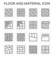 floor material icon vector image vector image