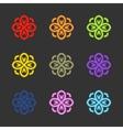Flower logo sign emblem vector image vector image