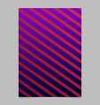 gradient stripe poster - abstract template vector image vector image