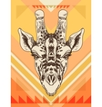 hand drawn with giraffe head vector image vector image
