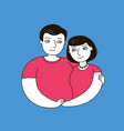 happy couple in love family vector image