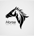 horse animal black icon logo design vector image vector image