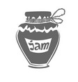 jar of jam silhouette vector image