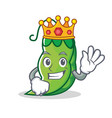 king peas mascot cartoon style vector image vector image