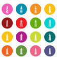 lighthouse icons set colorful circles vector image