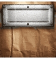 metal and paper background vector image