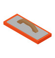 metallic trowel for plastering and mix or cement vector image