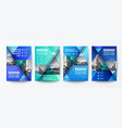modern blue and green design template for poster vector image