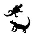 Moloch silhouettes vector image vector image