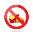 no food symbol vector image vector image