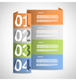 Paper options template eps10 vector image