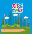 park with kid zone scene vector image