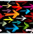 Pattern of painted arrows pointing right vector image