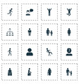 person icons set with human subordination mother vector image vector image