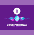 personal voice assistant sound recognition vector image vector image