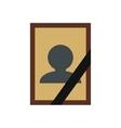 Photo of deceased icon vector image vector image
