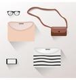 Presentation of accessories womenswear vector image vector image