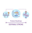 product roadmap concept icon vector image