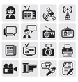 Reporter icons set vector image vector image