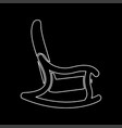 rocking chair white color icon vector image