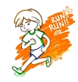 Run boy color vector image vector image