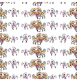 Seemless pattern of doodle dog vector image vector image