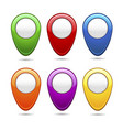 set colored markers for maps vector image vector image