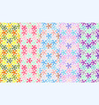 set of seamless patterns with light abstract flowe vector image