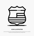 shield sign usa security line icon vector image vector image