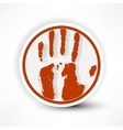 sign of the hand palm in red on a white background vector image