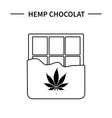 template hemp icon 3 vector image