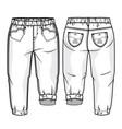 toddler girls pants vector image vector image