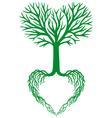 tree of life green heart vector image