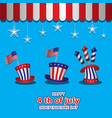 us independence day on 4 july three hats vector image vector image