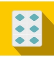 Viagra pills in a blister pack icon flat style vector image vector image