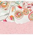 Vintage Floral Copy Space Card vector image vector image