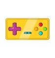 Vintage game joystick icon cartoon style vector image