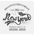 Vintage label with New York City design vector image vector image