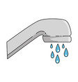 water faucet isolated icon vector image vector image