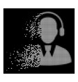 white dust dotted halftone call center operator vector image vector image