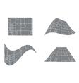 city road map - set vector image