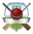 Cricket Badge vector image