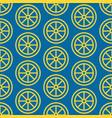 lemon slice seamless pattern background vector image