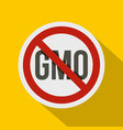 stop gmo red prohibition sign icon flat style vector image