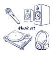 icon set music vector image