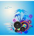 Night Disco Dance Tropical Music Flyer vector image
