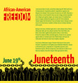 juneteenth african-american independence day vector image