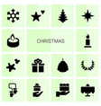 14 christmas icons vector image vector image