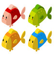3d design for colorful fish vector image vector image