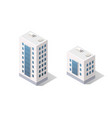 3d isometric dimensional city building house is a vector image vector image